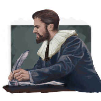 Barón de Pretto is the author of both books as well as an important character inside the plot. He is an enlightened and rich nobleman who will be a key element in many moments of the story.