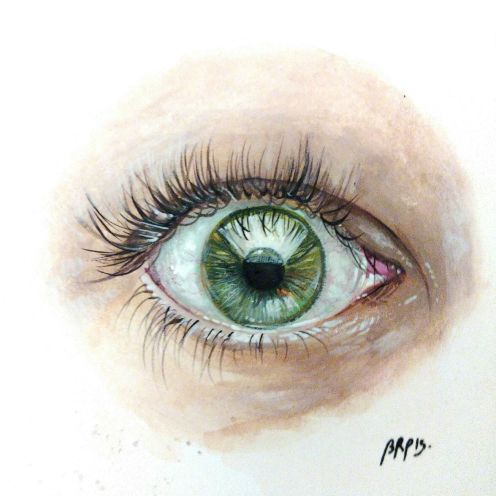 eye made with gouach- beatriz porrero