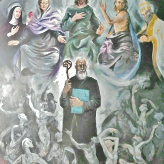 Cuadro para los Agustinos de las Palmas/ Oil painting for the church of Agustinos of las Palmas