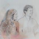 Acuarela y lápiz sobre papel/ Watercolor and pencil on paper