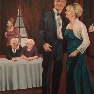 Retrato de cinco en 50x70cm, óleo/ Oil painting of 50x70cm